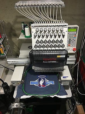 Embroidery Machine, Toyota ESP 9000 w/Cap Attachment and Frames
