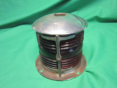 Vintage Glass Red / Green Boat Light N M L National Marine Lamp Company