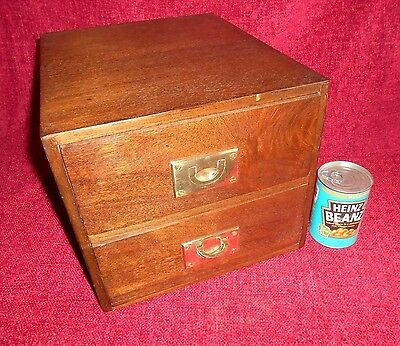 Antique Mahogany Filing Card Index  Box Cabinet Small Chest of Drawers