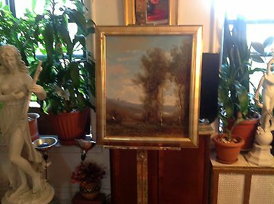 """Original impressionist oil on canvas landscape painting by French artist 24""""X20"""""""