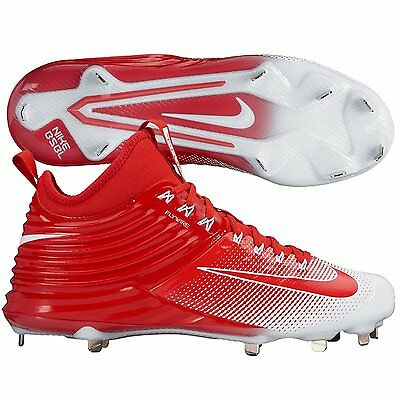 1213169011c0 New Nike Lunar Trout 2 Metal Baseball Cleats Red White Sz 14 Mike Angels