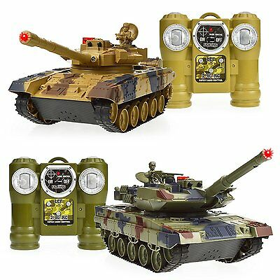 Dynasty Toys Remote Control RC Laser Tag Battle Tanks 2 Player Set