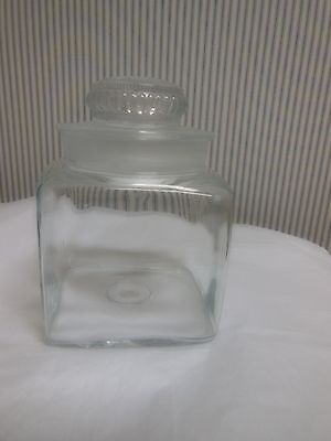 Vintage Apothecary or Candy Jar With Ground Glass Lid