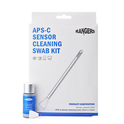 Rangers 12pcs Dry APS-C Sensor Cleaning Swab Set para DSLR CCD CMOS Camera RA113