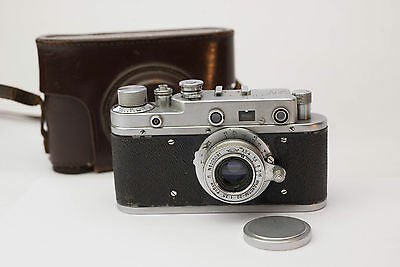 Russian Zorki-C with 5cm 1:3.5 Lens And Case