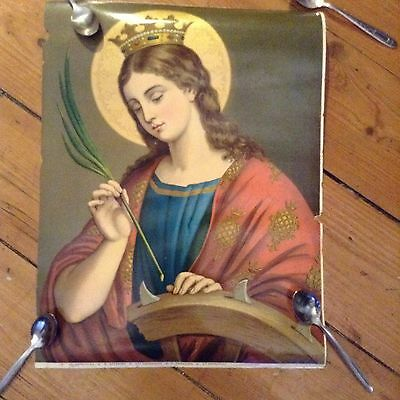 Antique Religious Icon Print - Stunning Colours - Very Beautiful