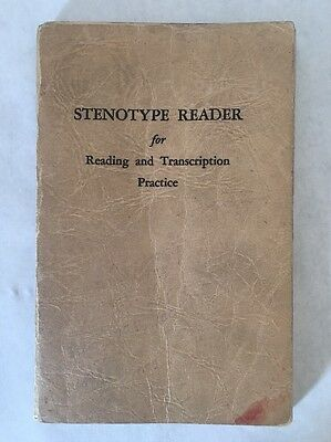 Stenotype Reader Transcription Practice 1945 Shorthand Book Vintage