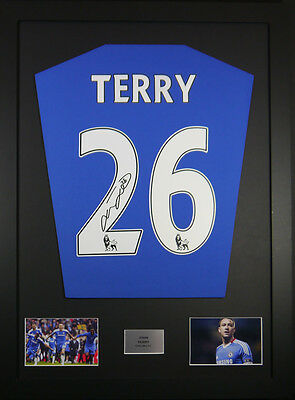 John Terry Chelsea Signed Shirt framed display with coa