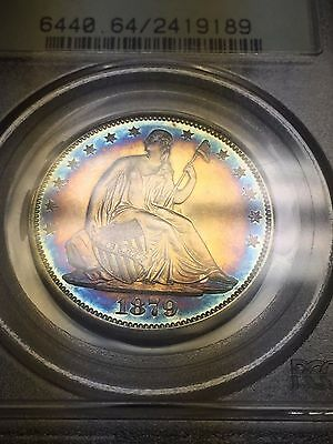 1879 Seated Liberty Half Dollar PCGS PR64 OGH with AMAZING TONING!!!!