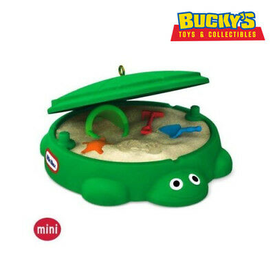 Turtle SandBox 2016 Hallmark Mini Ornament Little Tikes Play Sand Toys Boy Girl