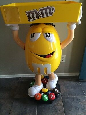 Yellow M&M W/ Tray Candy Character Store Display- Over 3ft Tall