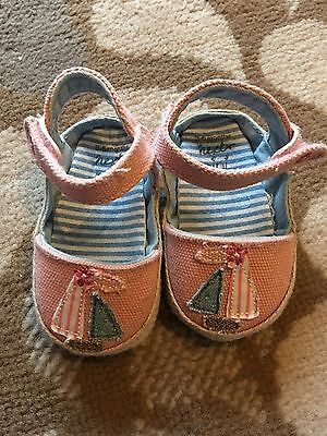 Baby Girls Pram Sandals By Next. 3-6 Months. Bnwot