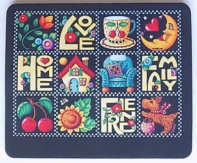 """Mary Engelbreit """"Love, Home, Family & Friend"""" Mouse Pad"""