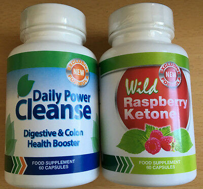 daily power cleanse 60 capsules wild raspberry ketone 60 capsules eur 76 40 picclick be. Black Bedroom Furniture Sets. Home Design Ideas