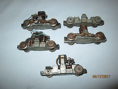 5 American Flyer #740 Handcar Chassis with Motor Parts
