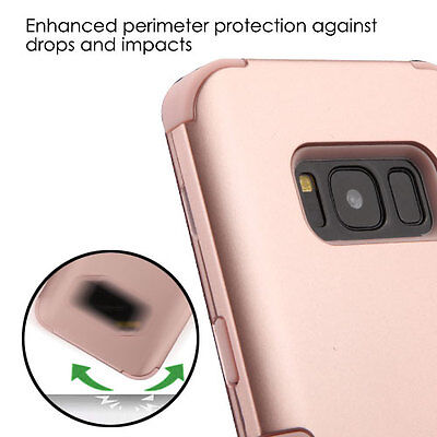 for Samsung Galaxy S8 - ROSE GOLD Hybrid Armor Shockproof Skin Phone Case Cover