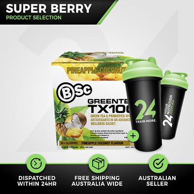 Body Science TX100 Green Tea | 60 Serve Super Berry | BSc Weight Loss Free Gift!