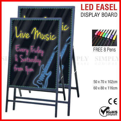 LED Easel Menu Board Message Display Sign Flashing Neon Erasable Restaurant