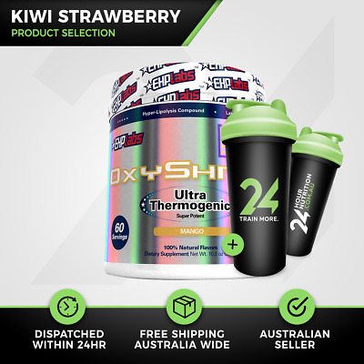 EHP Labs OxyShred | 60 Srv Kiwi Strawberry | Thermogenic Fat Burner | Free Gift!