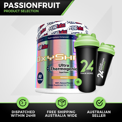 EHP Labs OxyShred | 60 Serve Passionfruit | Thermogenic Fat Burner | Free Gift!