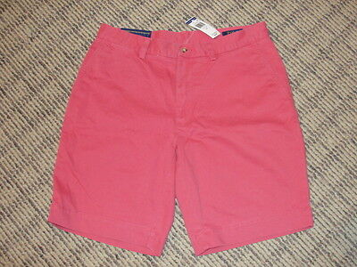 """NEW Men's Polo Ralph Lauren Classic Fit 9"""" Red Chino Shorts, Size 32, NWT"""