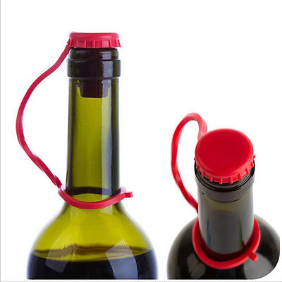 Red Beer Bottle Rubber Soft Stoppers Airtight Reusable Cork Lid Cap Wine Pourers