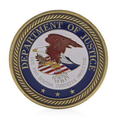 Saint Michael Department Of Justice Commemorative Challenge Coin Art  Collection
