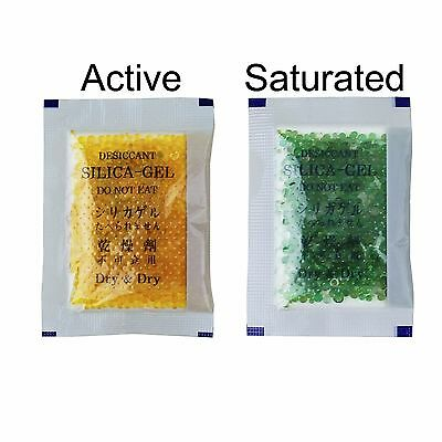 "[35 Packs]10 Gram "" Dry & Dry"" Orange Indicating Silica Gel Packets - Reusable"