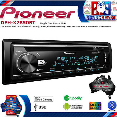 Pioneer Deh-x7850bt Car Cd Mp3 Stereo Bluetooth Radio Iphone Android Dehx7850bt
