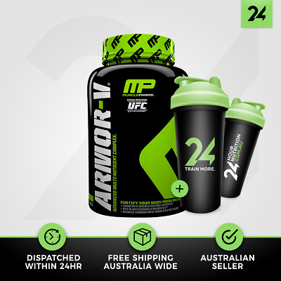 Muscle Pharm Armor V | Daily Multi Vitamins & Minerals Complex | Free Gift!