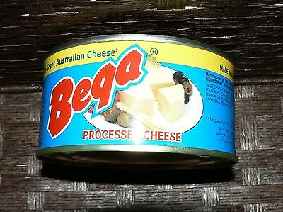 BEGA 340g CANS OF PROCESSED CHEESE LONG LIFE made in Australia