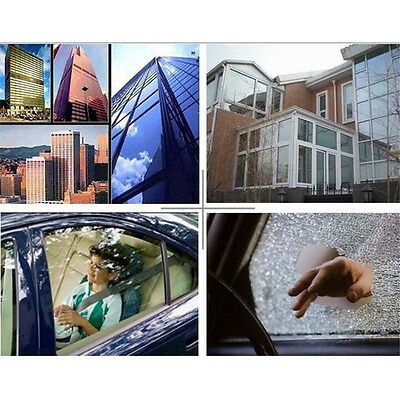 12 Mil Safety Clear Film/Window/Security/Residential/UV/ROLL for the Bank