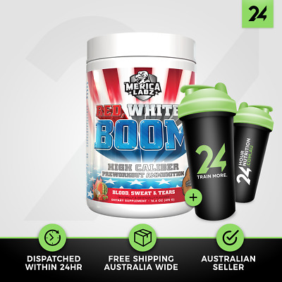 Merica Labz Red White & Boom | Explosive Pre Workout Energy & Pump | Free Gift!