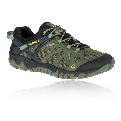 Merrell All Out Blaze Aero Mens Green Outdoors Walking Camping Shoes