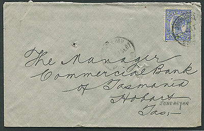 Queensland 1907 cover Jondaryan to Hobart Tasmania