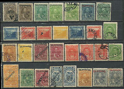 Ecuador Telegraph stamp collection mint & used 1892-7