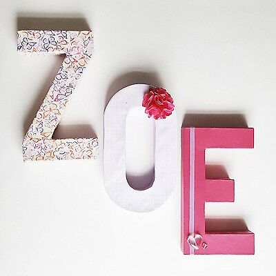 Wooden Nursery Letters Custom Baby Name Block Decor Or Wall Art
