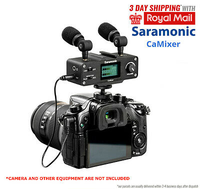 Saramonic CaMixer With 2 plug-in Condenser Microphones Audio Adapter for Canon