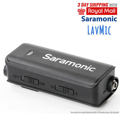 Saramonic Audio Adapter LavMic with a Clip-on Condenser Microphone for Canon New
