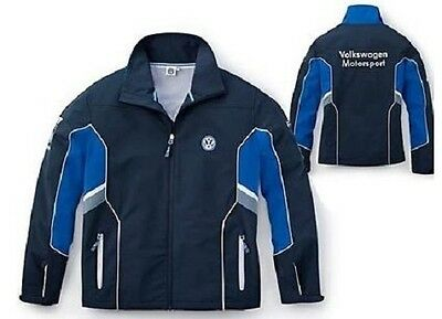 Vw Motorsport Collection – Genuine Mens Blue Grey Softshell Jacket Coat