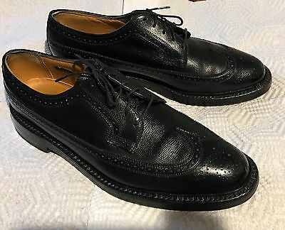 Vtg Florsheim Imperial Leather Wingtip Oxford Dress Shoes Usa Mens 8.5 D