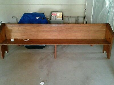 Antique Church Pew Wood Handmade Pine