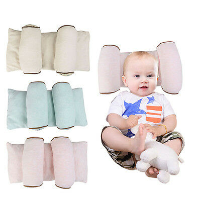 Newborn Baby Breathable Latex Pillow Prevent Flat Head Anti Roll support Neck AU