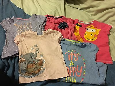 Girls Short Sleeve Top Bundle Next, Mothercare, F&F And George