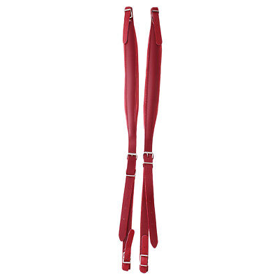 2x Accordion Shoulder Straps for Musical Instrument Ajustable 83-110cm Red