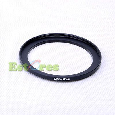 62mm-72mm 62-72 mm 62 to 72 Metal Step-Up Lens Filter Ring Adapter Black