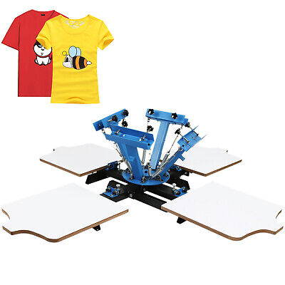 4 Color 4 Station Silk Screen Printing Machine Print Glass Cutting Carousel