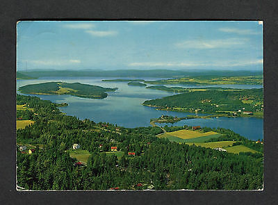 Posted 1978 View of Sundvollen & Lake Tyrifjorden, Norway