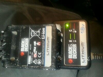 Black and decker battery charger & 18V Li-ion Battery