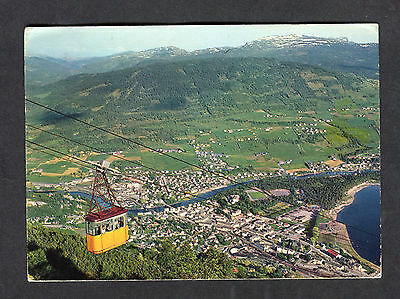 Posted 1971 View of Cable Car over Voss, Norway